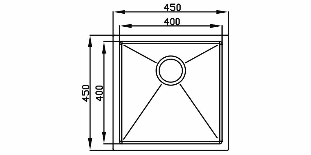 Imagem das dimensoes do produto QUADRATINO 400