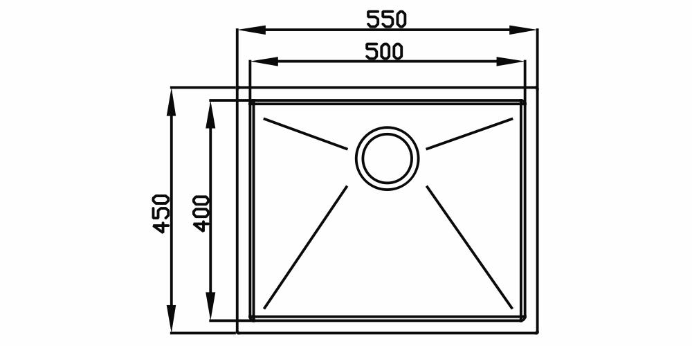 Imagem das dimensoes do produto PRIMACCORE 500 PVD NANO BLACK