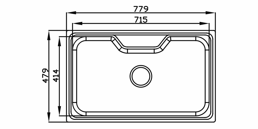 Imagem das dimensoes do produto FUNZIONALE 235