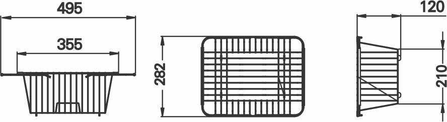 Imagem das dimensoes do produto ARAMADO ESCORREDOR MULTIUSO