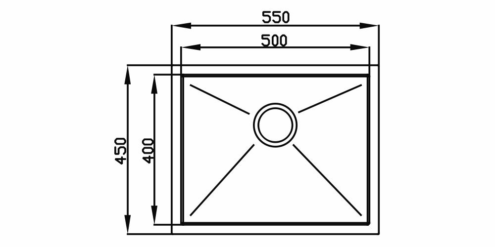 Imagem das dimensoes do produto QUADRATINO 500