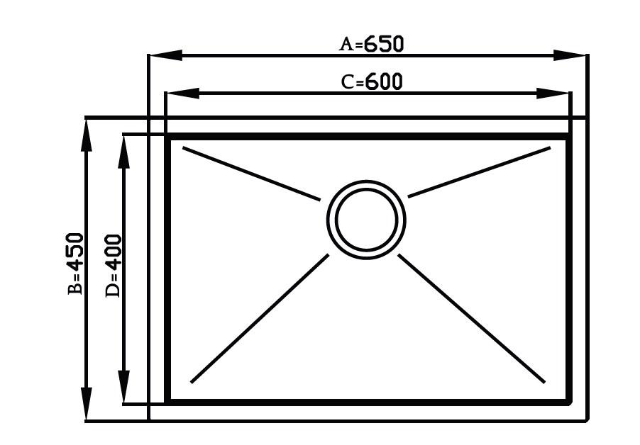 Imagem das dimensoes do produto QUADRATINO 600