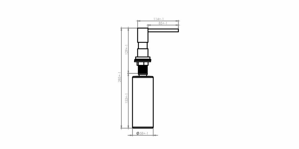 Imagem das dimensoes do produto DOSADOR DE DETERGENTE LÍQUIDO