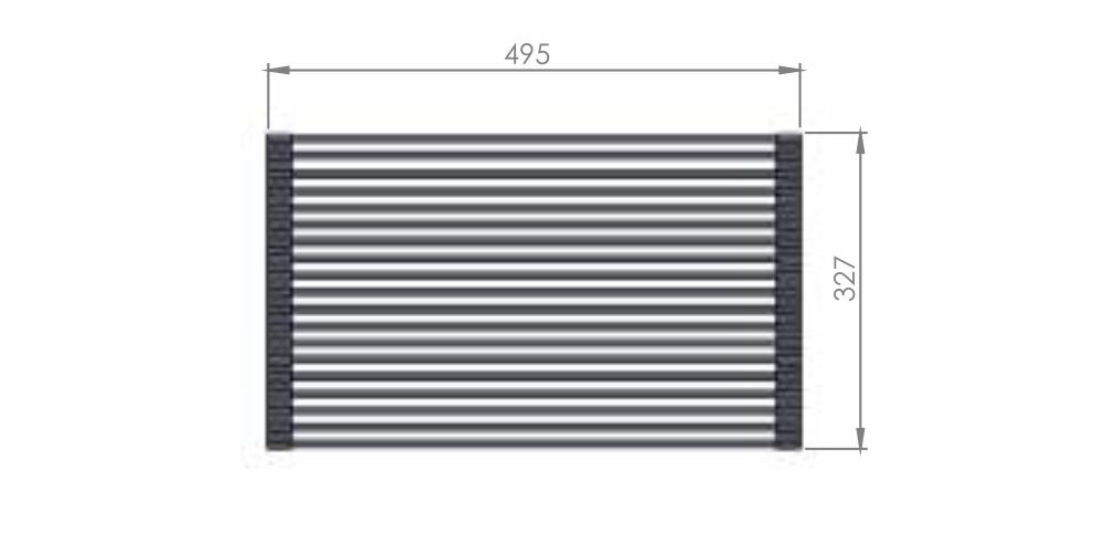 Imagem das dimensoes do produto GRID DRAINER GRADE ESCORREDORA
