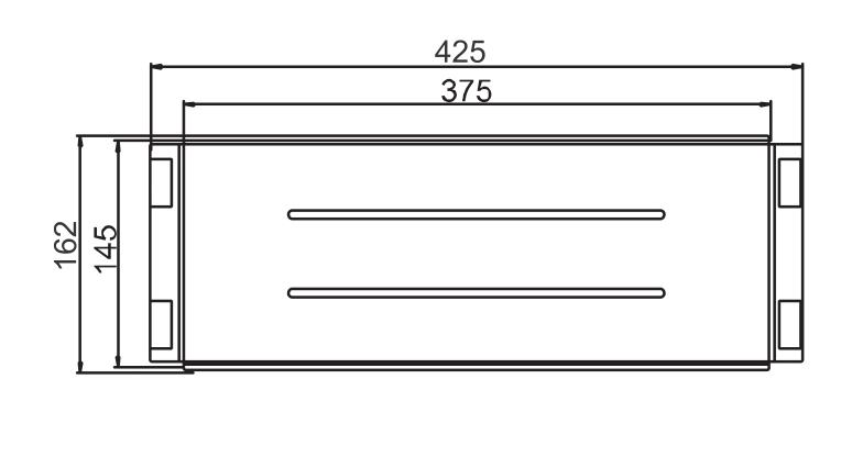 Imagem das dimensoes do produto BANDEJA RETANGULAR PRIMACCORE