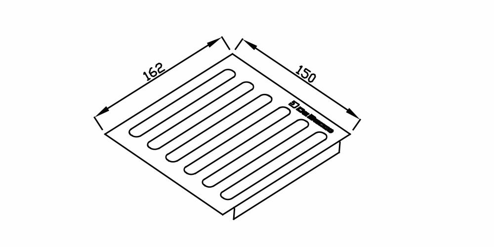 Imagem das dimensoes do produto ESCORREDOR 150