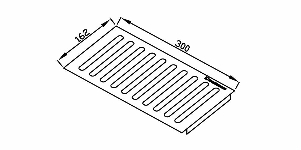 Imagem das dimensoes do produto ESCORREDOR 300