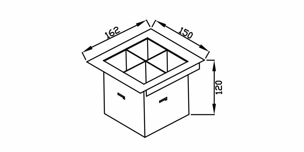 Imagem das dimensoes do produto PORTA TALHERES