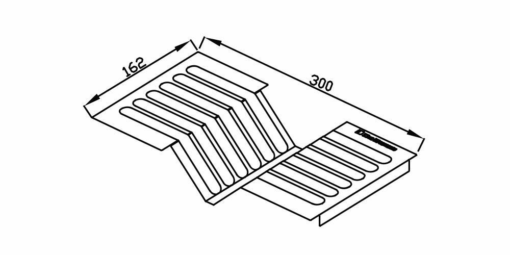 Imagem das dimensoes do produto ESCORREDOR DE PRATOS