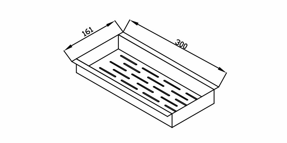 Imagem das dimensoes do produto ESCORREDOR UTENSÍLIOS